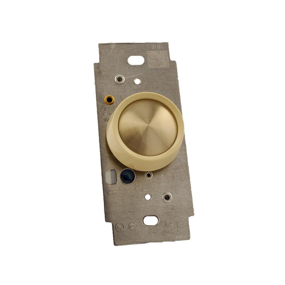 5 Amp Single Pole Full Range Electro-Mechanical Rotary Fan Speed Control, Ivory