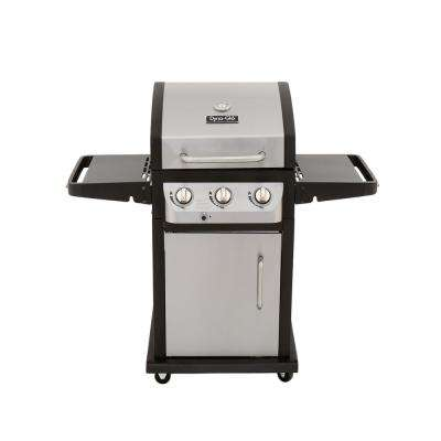 Smart Space Living 3-Burner Propane Gas Grill in Stainless Steel