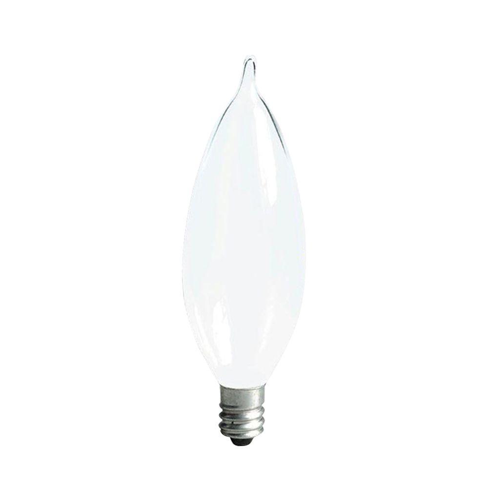 Ge 40 Watt Incandescent Ca10 Bent Tip Decorative