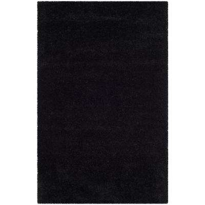 Milan Shag Black 4 Ft. X 6 Ft. Area Rug