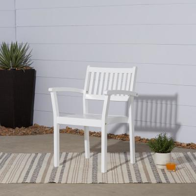 Bradley Stacking Wood Outdoor Dining Chair (2-Pack)