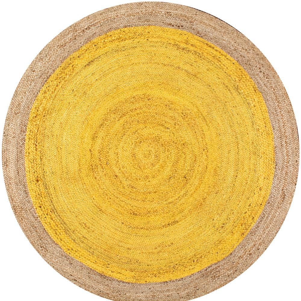 Nuloom Eleonora Yellow 8 Ft X Round Area Rug