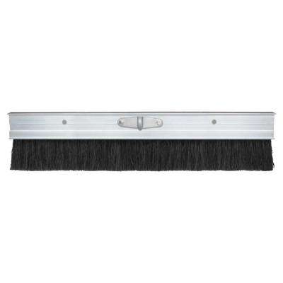 48 in. Aluminum Finishing Brush with Black Poly Bristles