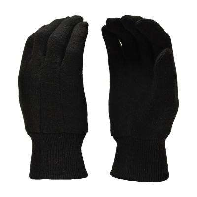 Brown Jersey Large Gloves (12-Pairs)