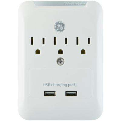 3-Outlet 2 USB Rapid Charging Port Pro Surge Protector Tap