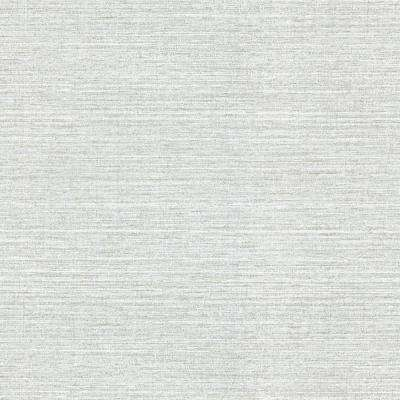 8 in. x 10 in. Madison Grey Faux Grasscloth Wallpaper Sample