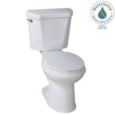 2-Piece 1.28 GPF High Efficiency Single Flush Round Toilet in White