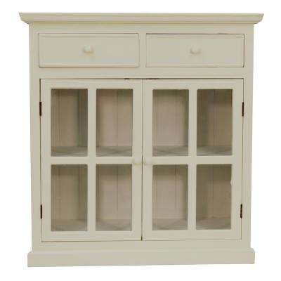 Layla Antique White Accent Table