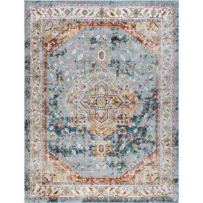 Tayse Rugs Wakefield Denim 8 Ft 9 In X 12 Ft 3 In Indoor Area Rug Wfl4127 9x12 The Home Depot