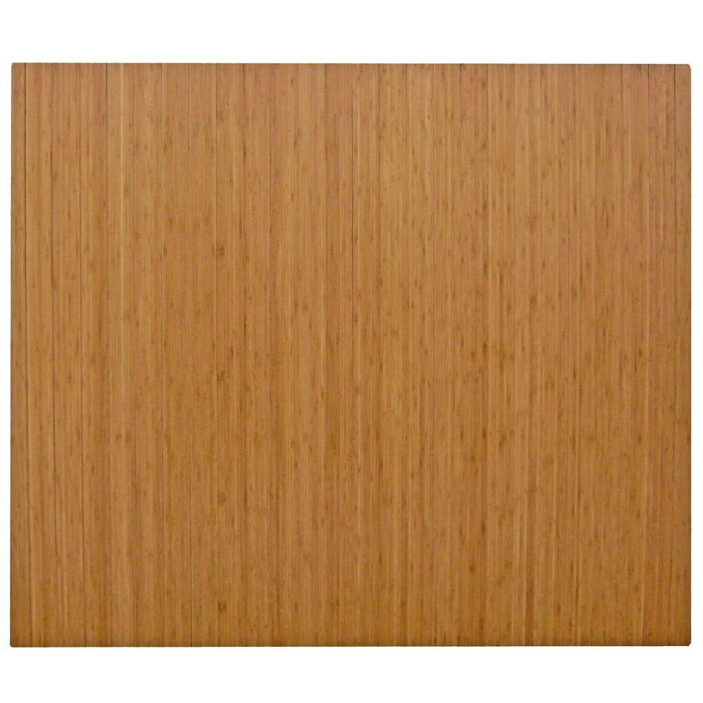 Standard Natural Light Brown 48 in. x 60 in. Bamboo Roll-Up