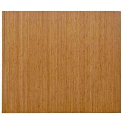 Standard Natural Light Brown 48 in. x 60 in. Bamboo Roll-Up Office Chair Mat without Lip