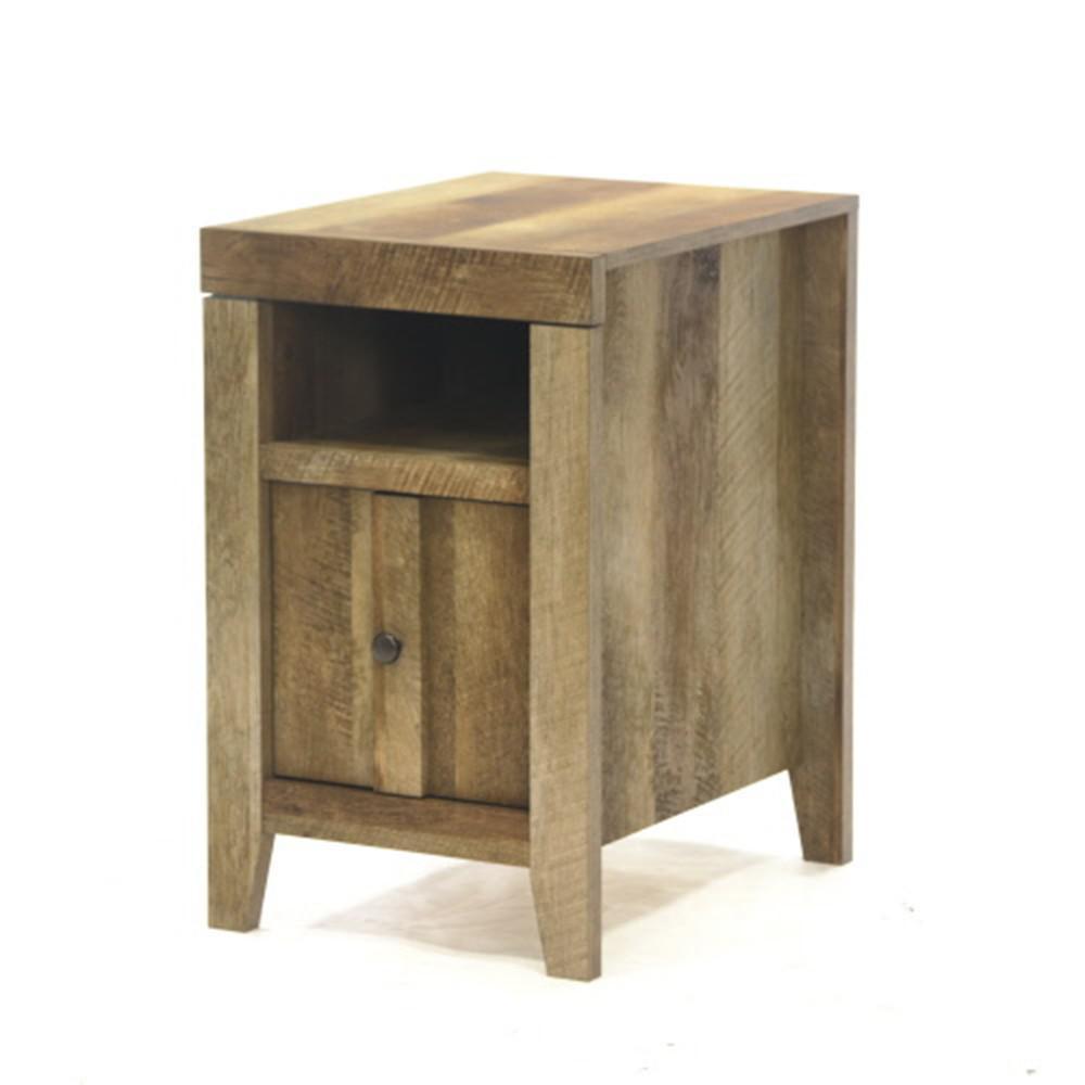 +2. SAUDER Dakota Pass Craftsman Oak Storage Side Table