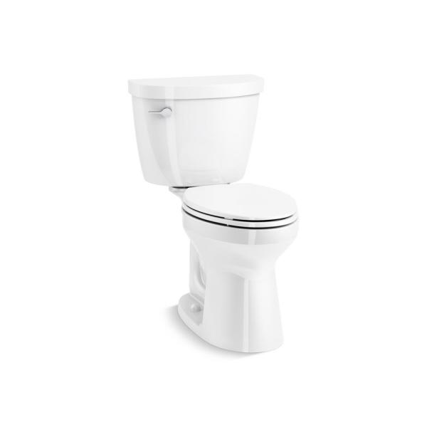 Cimarron Revolution 360 Complete Solution 2-piece 1.28 GPF Single Flush Elongated Toilet in White, with Slow-Close Seat