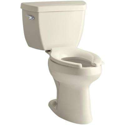 Highline Classic 2-piece 1.6 GPF Single Flush Elongated Toilet in Almond, Seat Not Included
