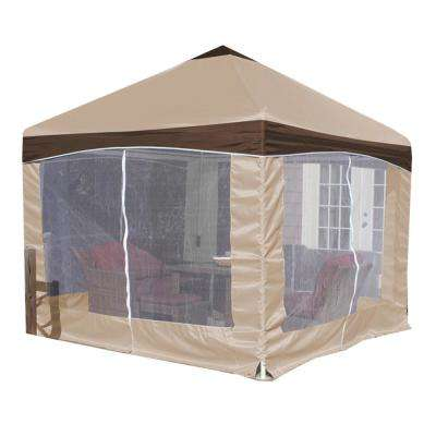 10 ft. x 10 ft. Garden Party Canopy with Caramel Creme Cover