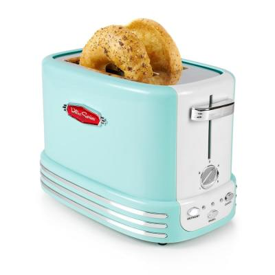 Retro Series 2-Slice Aqua Bagel Toaster