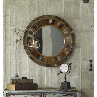 32 in. x 32 in. Reclaimed Wood Framed Mirror