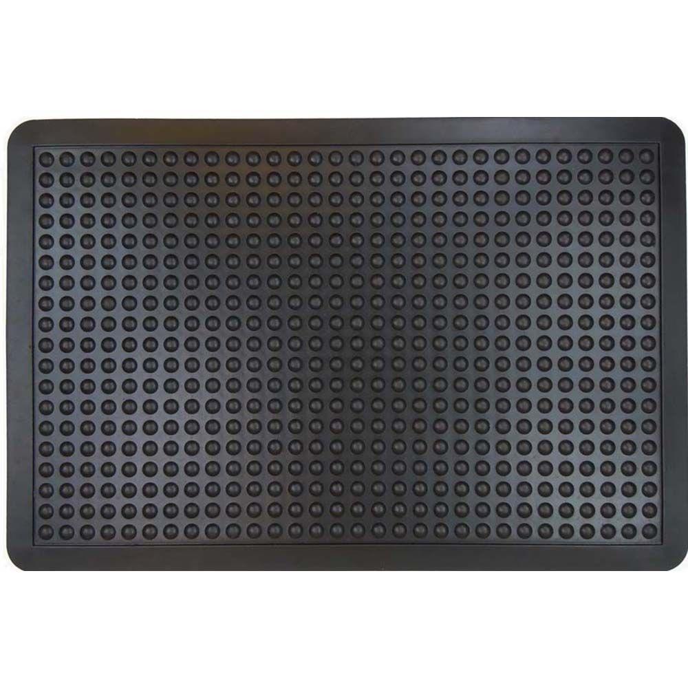 Black 23.75 in. x 35.5 in. Flexible Rubber Door Mat