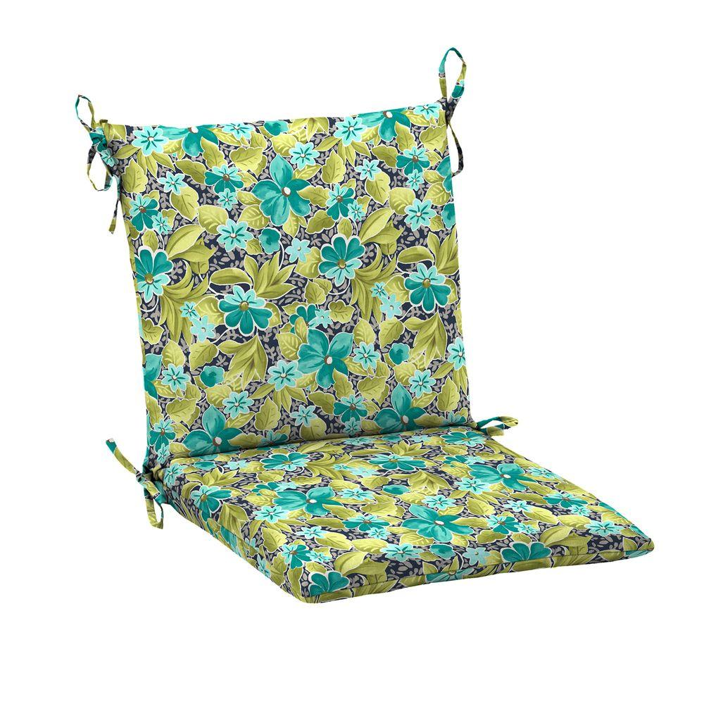 sunbrella spectrum cilantro mid back outdoor dining chair cushion 8420 01502100 the home depot. Black Bedroom Furniture Sets. Home Design Ideas