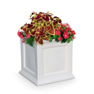 Fairfield 20 in. Square White Plastic Planter