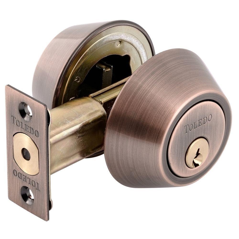 toledo fine locks double cylinder antique copper deadbolt cv1801