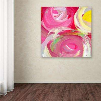 "35 in. x 35 in. ""Rose Garden Circles Square 4"" by Amy Vangsgard Printed Canvas Wall Art"