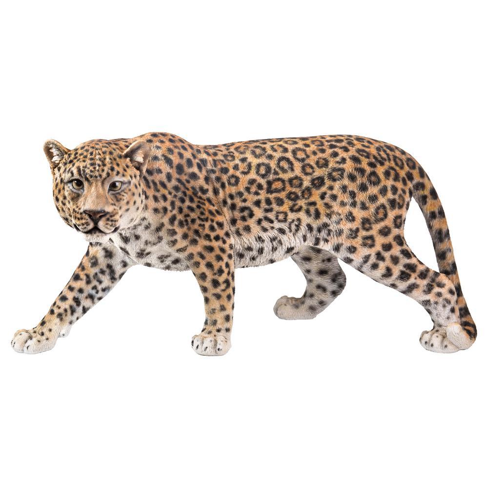 Leopard Stalking Garden Statue