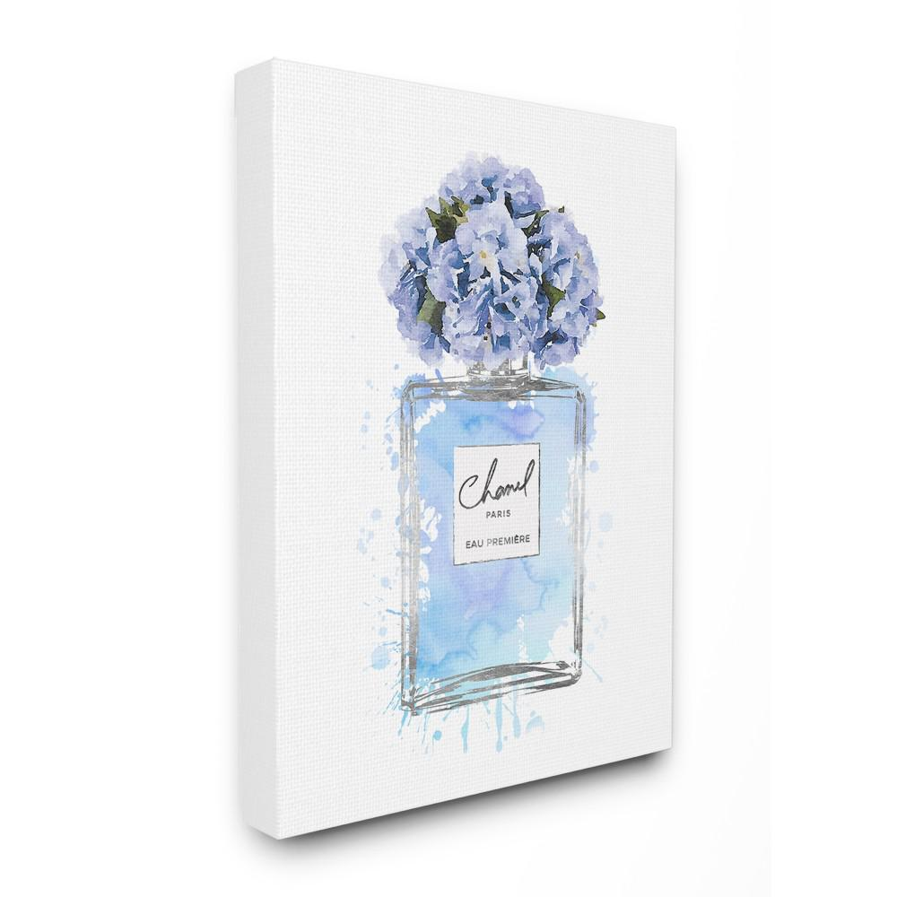 Stupell industries 16 in x 20 in blue flowers perfume bottle blue flowers perfume bottle watercolor izmirmasajfo