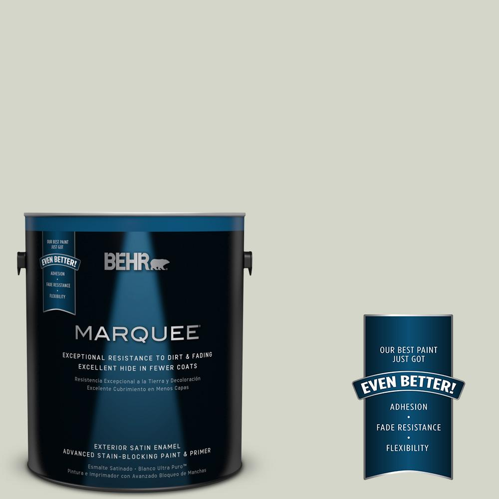 BEHR MARQUEE 1-gal. #QE-33 Natural Spring Satin Enamel Exterior Paint