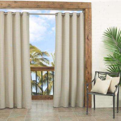 Key Largo Indoor/Outdoor Window Curtain Panel in Oatmeal - 52 in. W x 108 in. L
