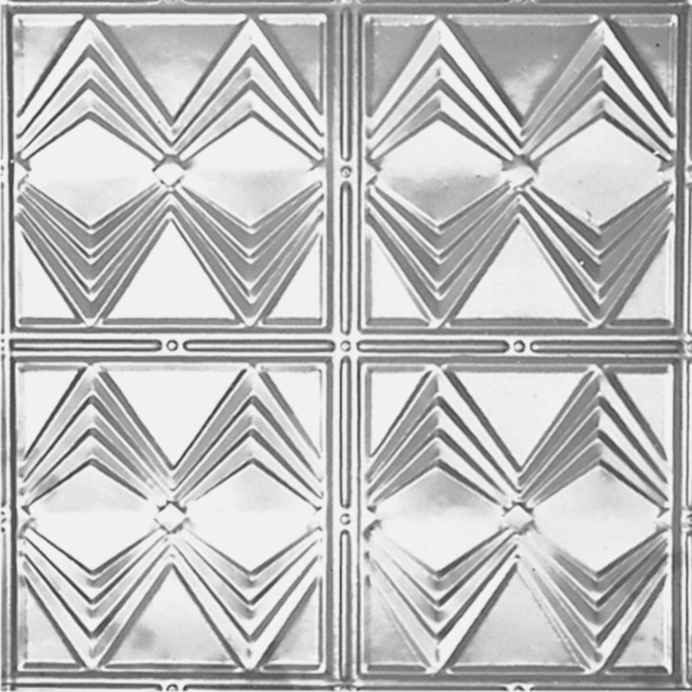 Shanko 2 Ft Long Lay-in Suspended Grid Tin Ceiling Tile Clear Lacquer Wall Backsplashes