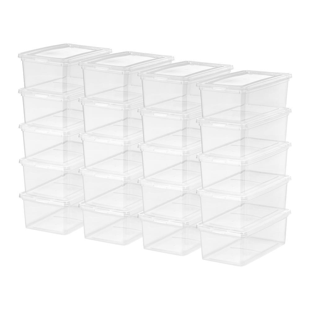 5 Qt. Storage Box in Clear (20-Pack)