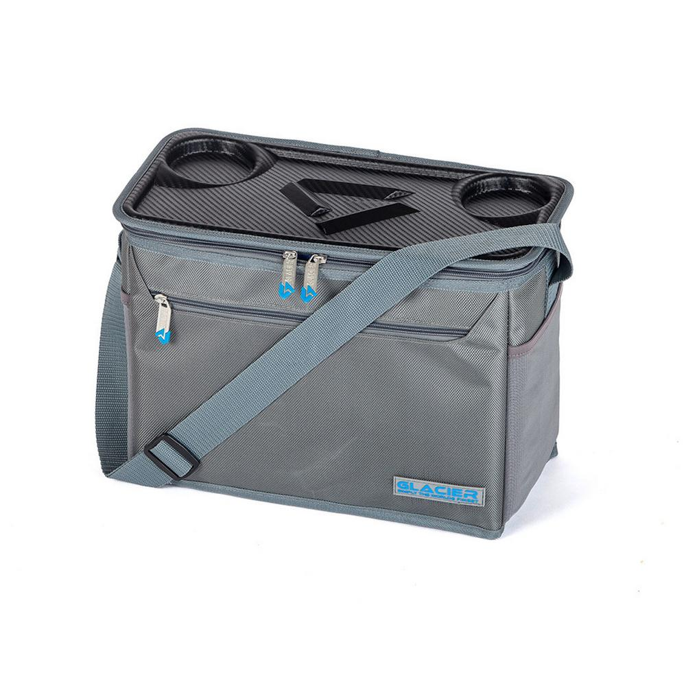 d22f5cbf36dc Glacier Coolers IceChip 15 Qt. Grey Soft-Side Cooler