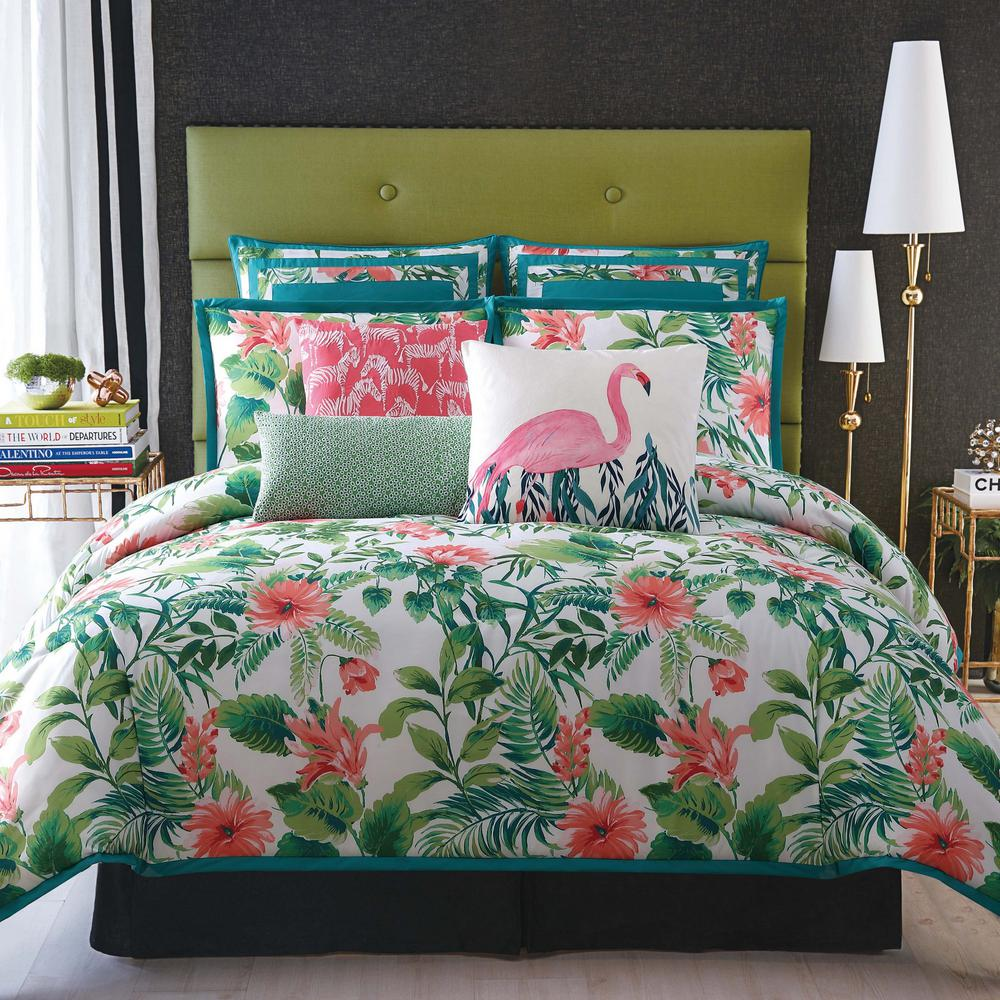 Tropicalia White Full/Queen Comforter with 2-Shams