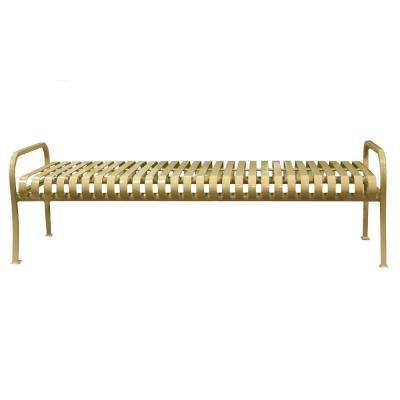 6 ft. Tan Premier Backless Bench