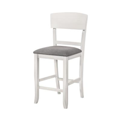 Summerland White and Light Gray Counter Height Chairs (Set of 2)