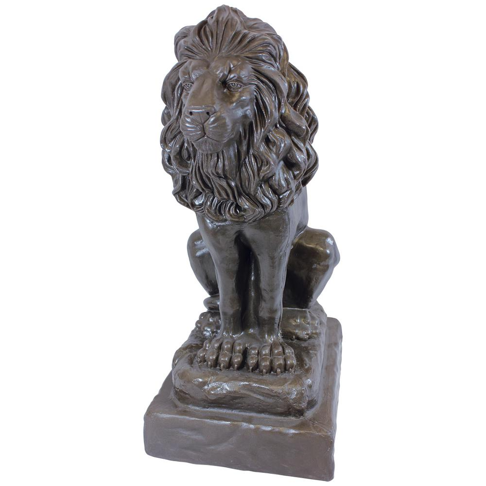 Bronze Color Guardian Lion Lawn And Garden Statue
