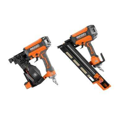 21-Degree 3-1/2 in. Round-Head Framing Nailer and 15-Degree 1-3/4 in. Coil Roofing Nailer