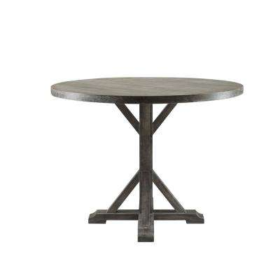 Carmelina Weathered Gray Oak Counter Height Table