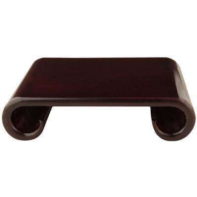 Rosewood 9 in. W Decorative Scroll Stand