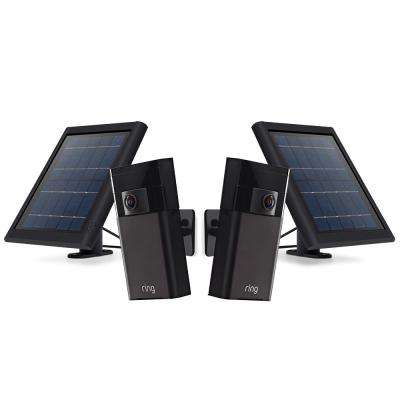 Wireless Outdoor Stick Up Cam with Solar Panel (2-Pack)