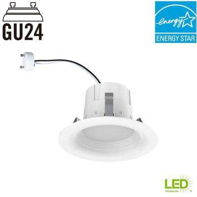 65-Watt Equivalent Softwhite 4 in. GU24 White Integrated LED Recessed Trim