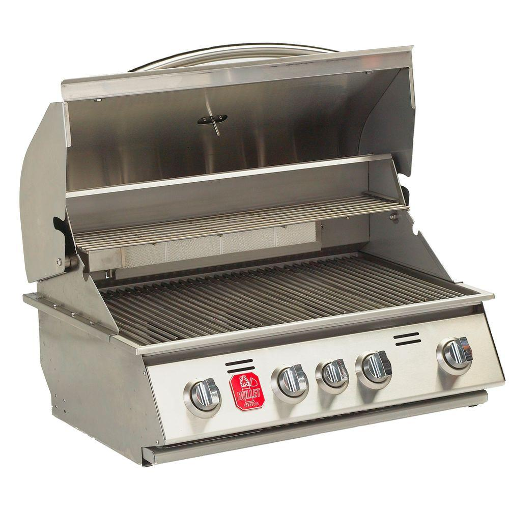 Bullet 4-Burner Built-In Propane Gas Grill in Stainless Steel with Infrared Burner