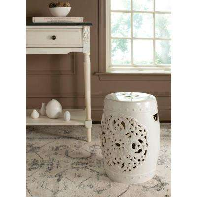Flora Creme Garden Patio Stool