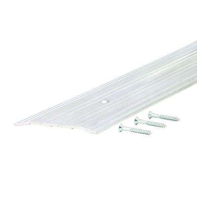 Fluted Saddle 4 in. x 48 in. Aluminum Commercial Threshold