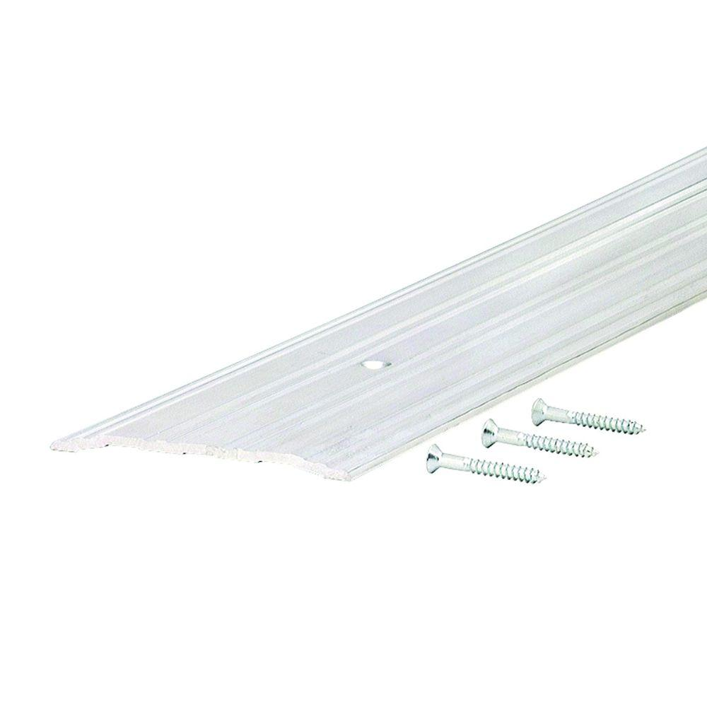 Fluted Saddle 4 in. x 94 in. Aluminum Commercial Threshold, Grays