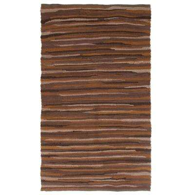 Chindi Tonal Chocolate 2 ft. x 4 ft. Area Rug