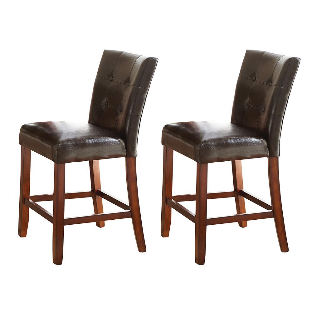 Astonishing Montibello Counter Chair Set Of 2 Customarchery Wood Chair Design Ideas Customarcherynet