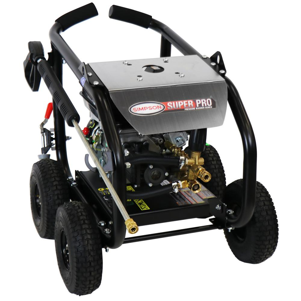 Simpson SIMPSON SuperPro Roll-Cage SW3625SADS 3600 PSI at 2.5 GPM SIMPSON GB210 Cold Water Pressure Washer