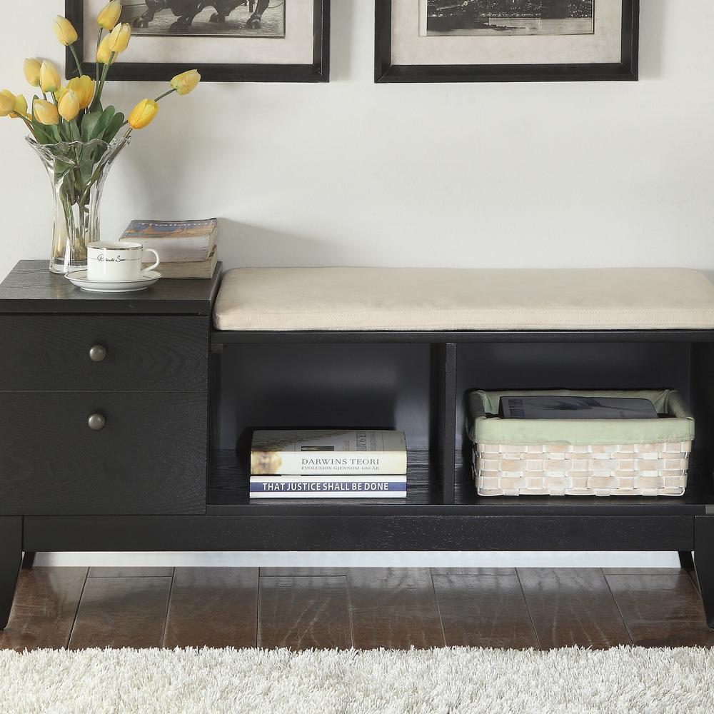 Boyet Black Storage Bench